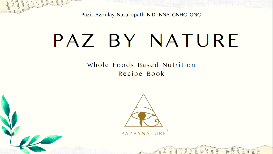 Whole Foods Based Nutrition Recipe Book