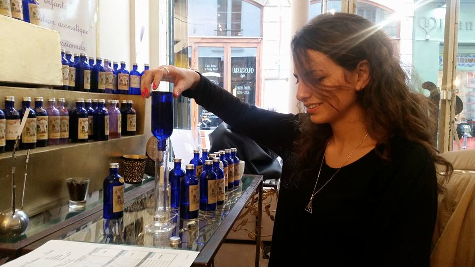 Pazit Azoulay making perfume in Paris, Paz By Nature