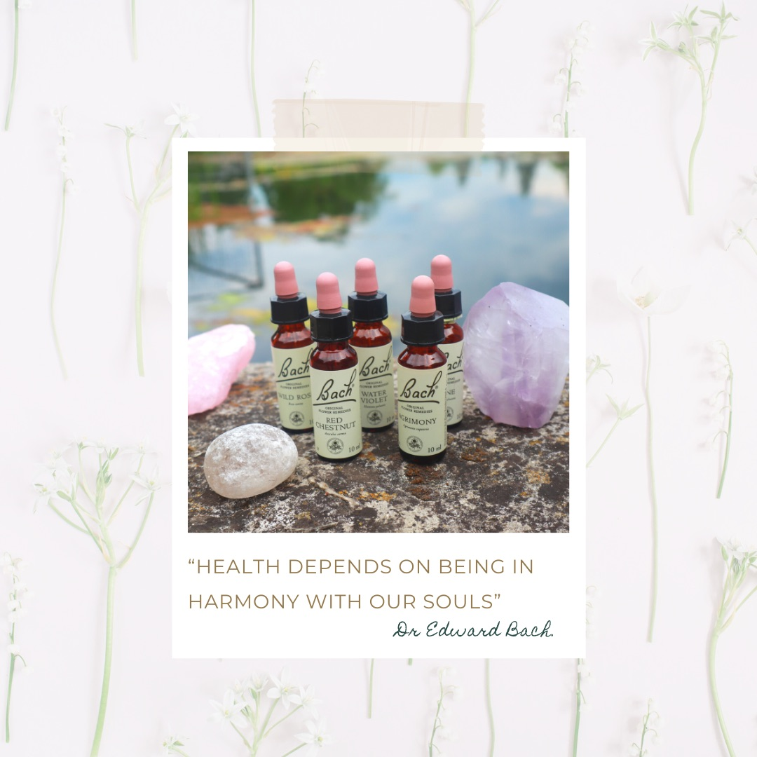 """Bach Flower Remedies """"Health depends on being in harmony with our souls"""" Dr Edward Bach."""