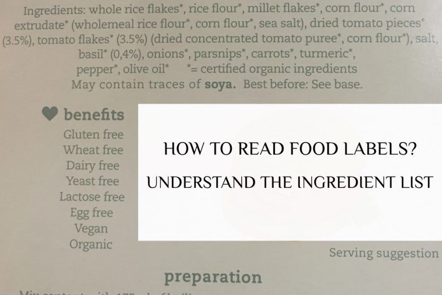 HOW TO READ FOOD LABELS? Understand the INGREDIENT LIST.001